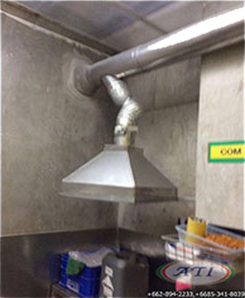 ระบบระบายความร้อน กลิ่นและควัน จากเครื่องจักรผลิตแพ็กเก็จจิ้ง ที่ โรงงานไทยโพลีพลาสแพ็ก  อุตสาหกรรม แขวง บางมด เขต จอมทอง กทม