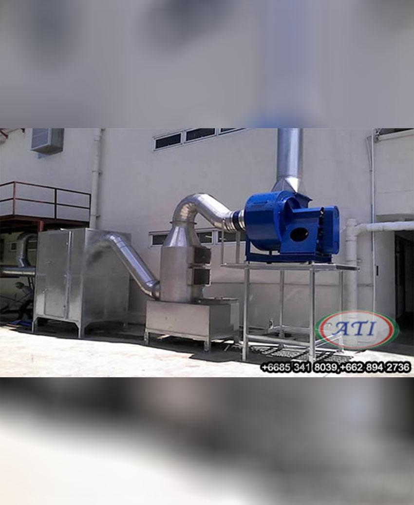 งานติดตั้งระบบบำบัดกลิ่นด้วย Wet Scurbber  และ  Activated Carbon